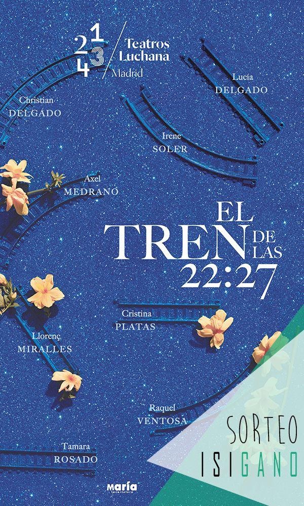 """@teatrosluchana quiere premiaros con tres entradas dobles para la obra """"EL TREN DE LAS 22.27"""" a disfrutar el 29/04  valoradas en 36€, la compañía la eliges tú!   #sorteo #sorteos #gratis #sorteogratis #sorteosgratis #sorteomadrid #sorteosmadrid #Madrid #suerte #luck #goodluck #premio #free #Teatro #TeatrosLuchana"""