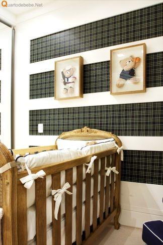 decoração de quarto de bebê xadrez