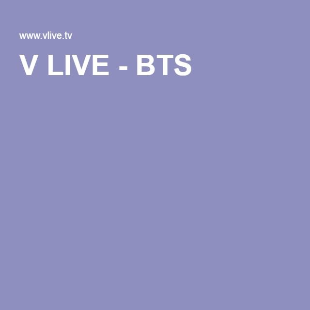V LIVE - BTS