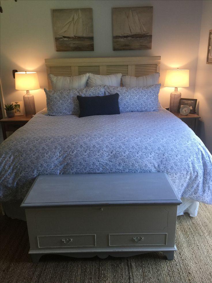 Coastal Master Bedroom - Shabby Chic - Shutter Headboard