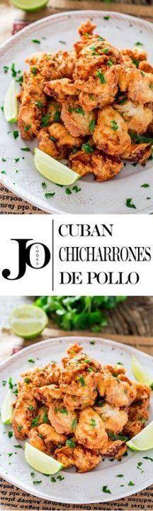 Cuban Chicharrones d Cuban Chicharrones de Pollo - chicken thigh...  Cuban Chicharrones d Cuban Chicharrones de Pollo - chicken thigh pieces marinated in a garlic lime and rum marinade dredged through flour and fried to perfection. Recipe : http://ift.tt/1hGiZgA And @ItsNutella  http://ift.tt/2v8iUYW