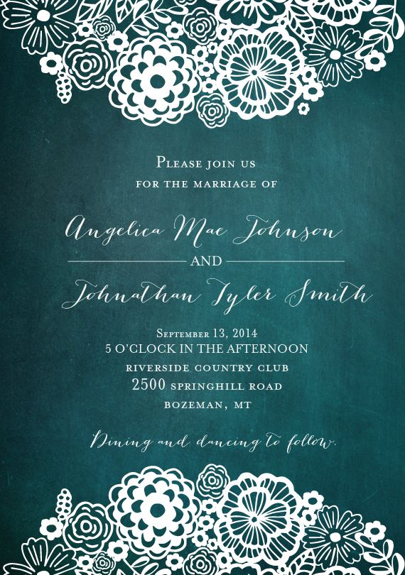 """Doily Blooms"" Wedding invitation stationary by Petra Kern"