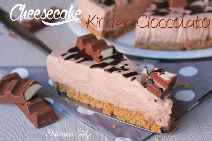 Una golosissima Cheesecake Kinder Cioccolato da leccarsi i baffi ;)
