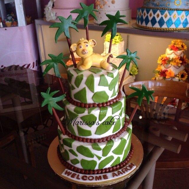 Simba Lion Baby Shower Cake. Visit Us Facebook.com/marissau0027scake.