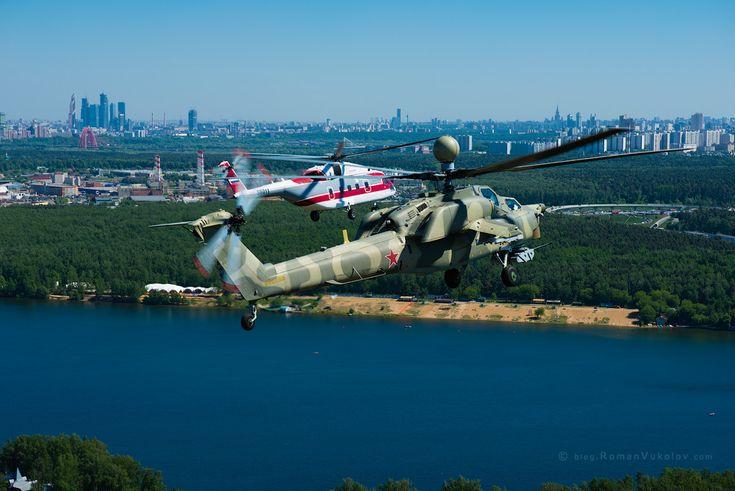 Полёт вокруг Москвы на вертолётах