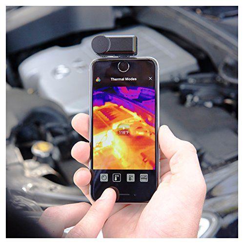 Schnäppchen Seek Thermal Compact Preiswerte Wärmebildkamera mit Lightning Anschluss und Wasserdichtem Schutzgehäuse Kompatibel mit Apple iOS Smartphones  Schwarz Vergleiche Preise