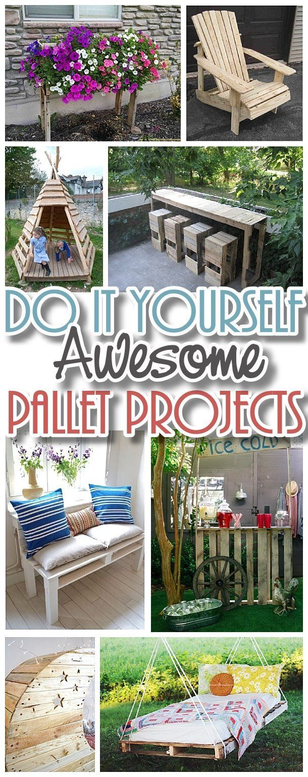 Do it Yourself Pallet Projects - The BEST DIY Tutorials to Upcycle old wooden Shipping Pallets into reclaimed Woodworking dream projects! #easypalletprojects #beginnerwoodworking #easywoodworkingtutorials #woodworkingtutorials #DIYprojects #easyDIYprojects #diyhomedecor #diyfurniture #easyupcycles