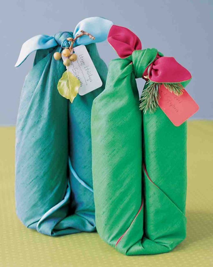 Bottle Wrap using table linens or any fabric choice