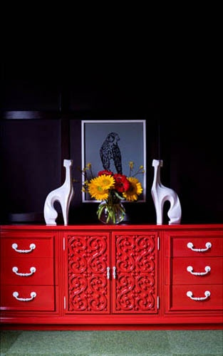 red lacquered furniture. Bright Red Sideboard Via Hgtv. Wowza! Lacquered Furniture W