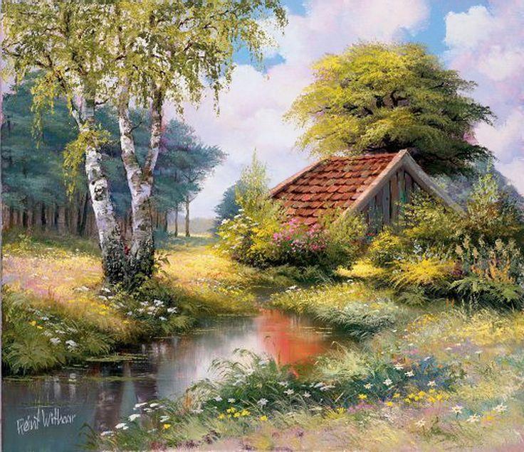 Reint Withaar es uno de los pintores que retratan a través de su talento, lugares con encanto.