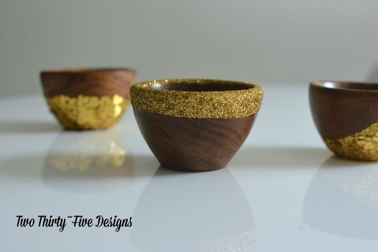 Gold Dipped Bowls