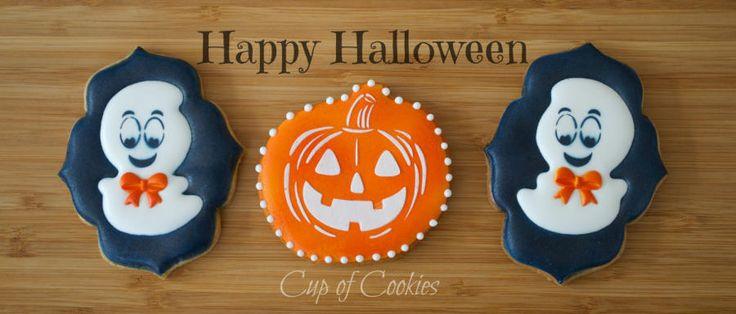 Happy Halloween Cookies - Cake by Cup of Cookies