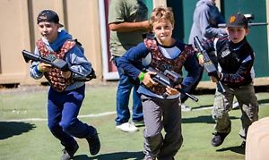Groupon - Laser Tag at Camp Pendleton Playland, Courtesy of Laser Tag Tickets (Up to 50% Off). Four Options Available. in Camp Pendleton Playland. Groupon deal price: $10