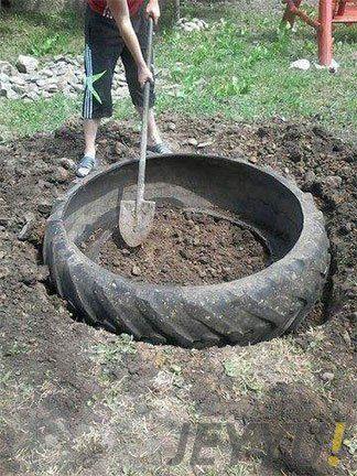 Traktör Lastiğinden Bahçeye Süs Havuzu Yapma Eski traktör lastiğinden veya kepçe lastiğinden, büyük lastiklerden çok kolay süs havuzları yapabilirsiniz. Eski lastikleri nereden bulacağım diye dert...