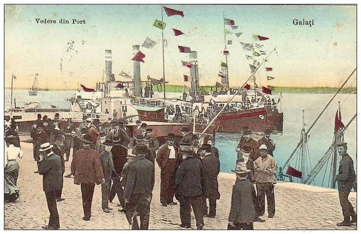 GALATI - Vedere din Port - 1913