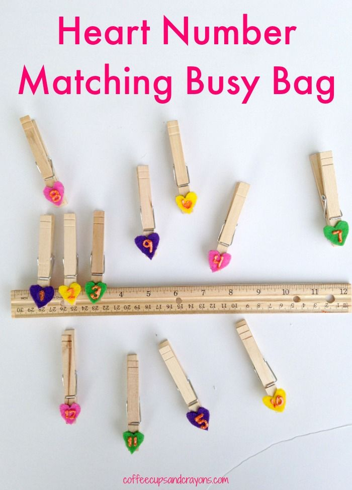 Heart Number Matching Game for Preschoolers! Great for number recognition and fine motor skills.