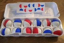 How fantastically easy is this!?! All you need are some ping pong balls, egg carton, paint and cardboard.