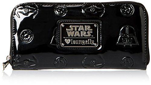 Loungefly Darth Vader Darkside Patent Zip Wallet //Price: $34.95 & FREE Shipping //     #starwarslife