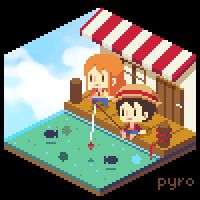 Pixel Room: One Piece by pyrogoth