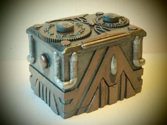 Custom Steampunk Deck Box for MTG Sleeved Cards Perfect for EDH Decks