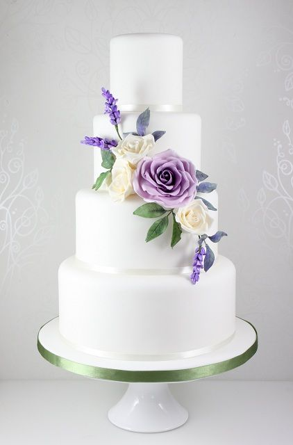 Best 25 Lavender Wedding Cakes Ideas On Pinterest