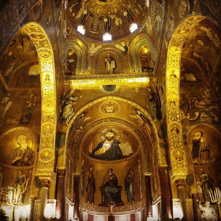 DAY 11 - Palermo, gorgeous sparkling Cappella Palatina.... with Iole http://guidaturisticapalermo.eu