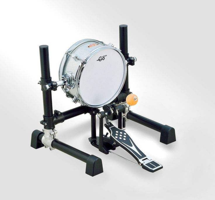 "10 inch Electronic Bass Drum with Stand Without Pedal 10"" Mesh Head Kick Drum 