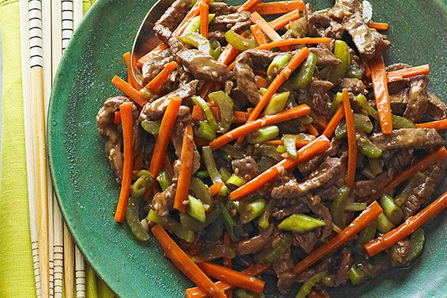 Combine thin strips of sirloin steak and matchstick-style veggies for this Szechuan Beef Stir-Fry. This elegant stir fry cooks quickly and deliciously.