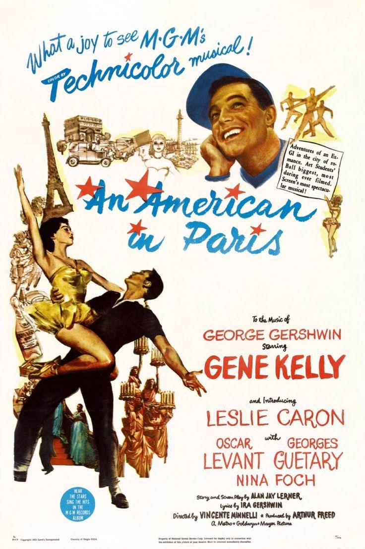 Un americano en París, 1951 Movies and Music I love