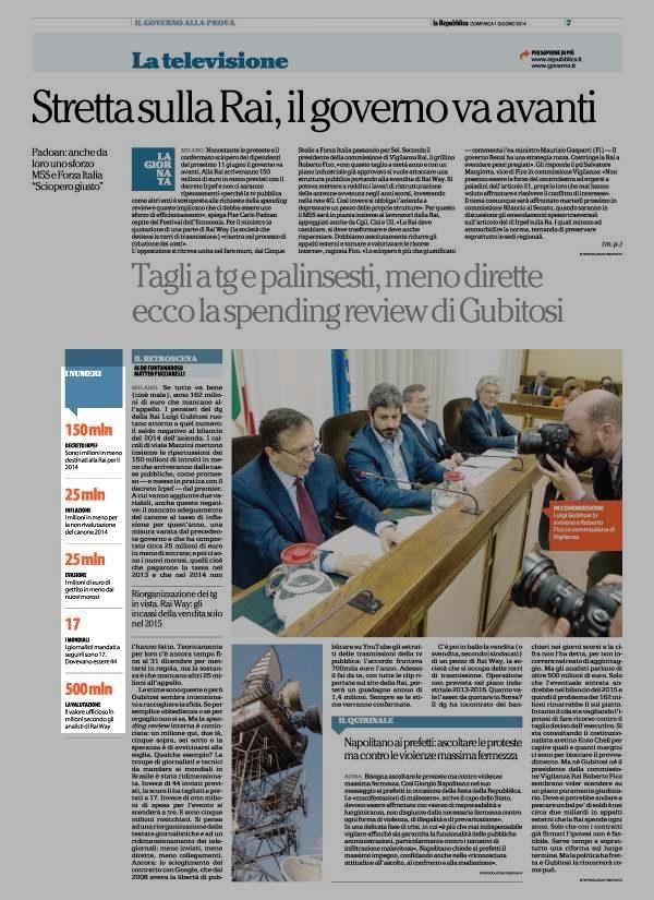 #RAI: I NUMERI - DECRETO IRPEF, INFLAZIONE, EVASIONE, MONDIALI - LA VALUTAZIONE