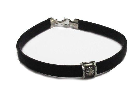 Joyeria-Jewelry Online PlatayAzabache Jewelry Online PlatayAzabache. Silver Jewels. Bracelet Silver and leather with pilgrim shell The Way C...