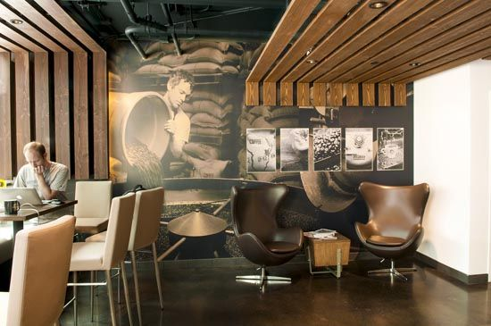 Interior Wall Design Fonte Coffee and Wine Bar by Floisand Studio