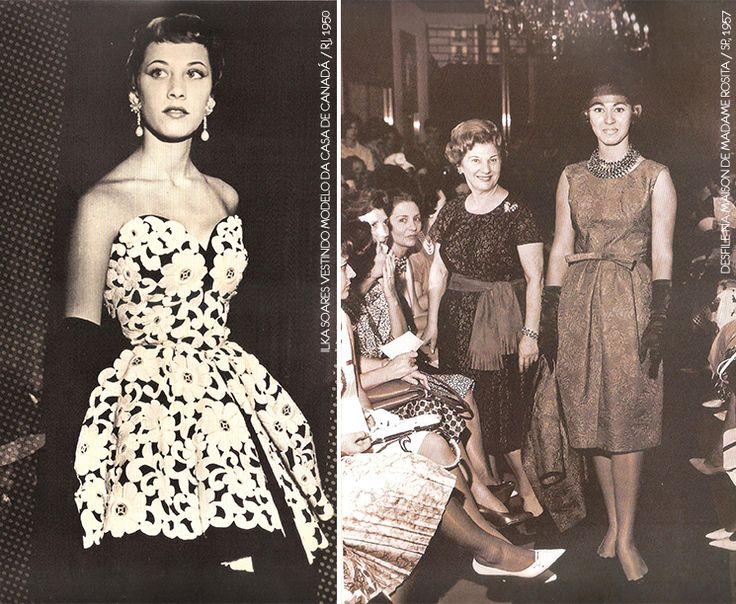 d246f67b07d3 Anos 50  os efeitos da Segunda Guerra na moda brasileira. Vintage Šaty50.