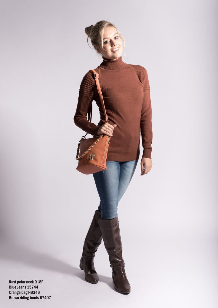 018F rust polar neck and our favorite blue jeans 15744