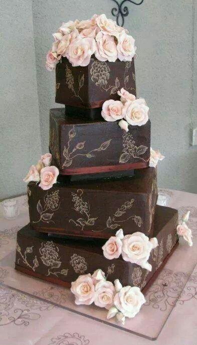 Choc wed cake