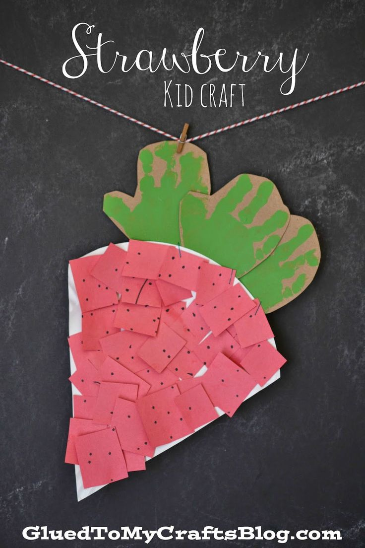 Plants arts and crafts - Strawberry Kid Craft