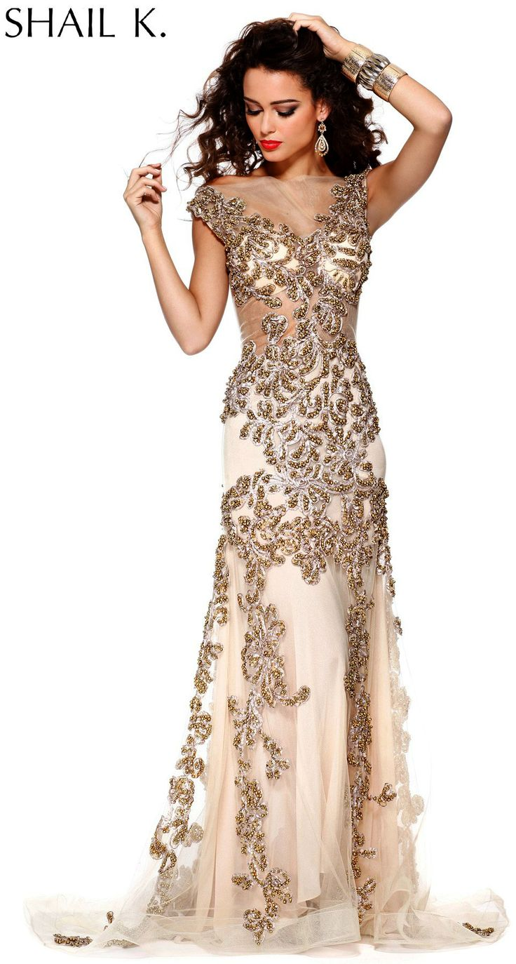 Prom Dresses<BR>Evening Dresses by SHAIL K.<BR>3909<BR>Extra Special!