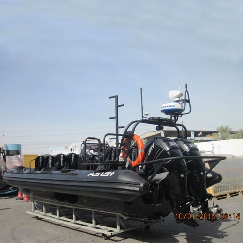 Outboard patrol boat / inflatable boat / rigid inflatable / center console Navy Boat 9.5 ASIS BOATS