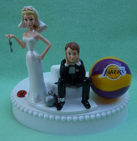 Wedding Cake Topper Los Angeles Lakers LA Basketball by WedSet