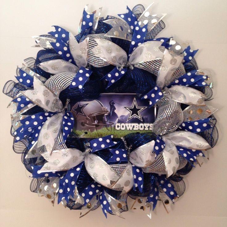 Dallas Cowboys Wreath, Dallas Cowboys Deco Mesh Sport ...