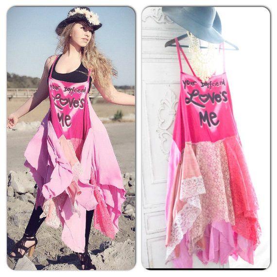 Sale Os Music Festival Boho Dress, Lace Maxi, Graphic Tshirt Bohemian Pink Sundress, Gypsy, Sundress, Retro Festival, True Rebel Clothing