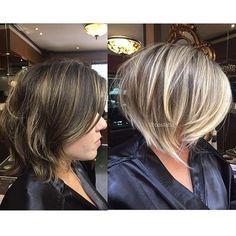 """#antesedepois Blond by Coss com pontos de luz bege-pérola. E esse corte amores?! Quem disse que não dá para reinventar quando o cabelo ainda está curto?! Digo e repito """"cortar nem sempre significa encurtar"""". Desafio é comigo mesmo #cutbyCoss #invisiblehighlights3D #costatto #tpbeautylounge #haircut #blondbyCoss #hairstylist #blondhair"""