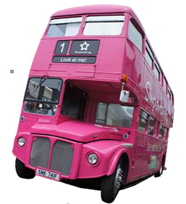 Superdrug pink bus tour! This would be one hell of a party bus!!