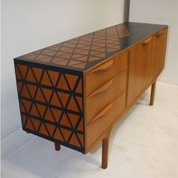 Up-cycled Retro Sideboard - This is a beautiful job, it's different which means you cant stop looking at it.