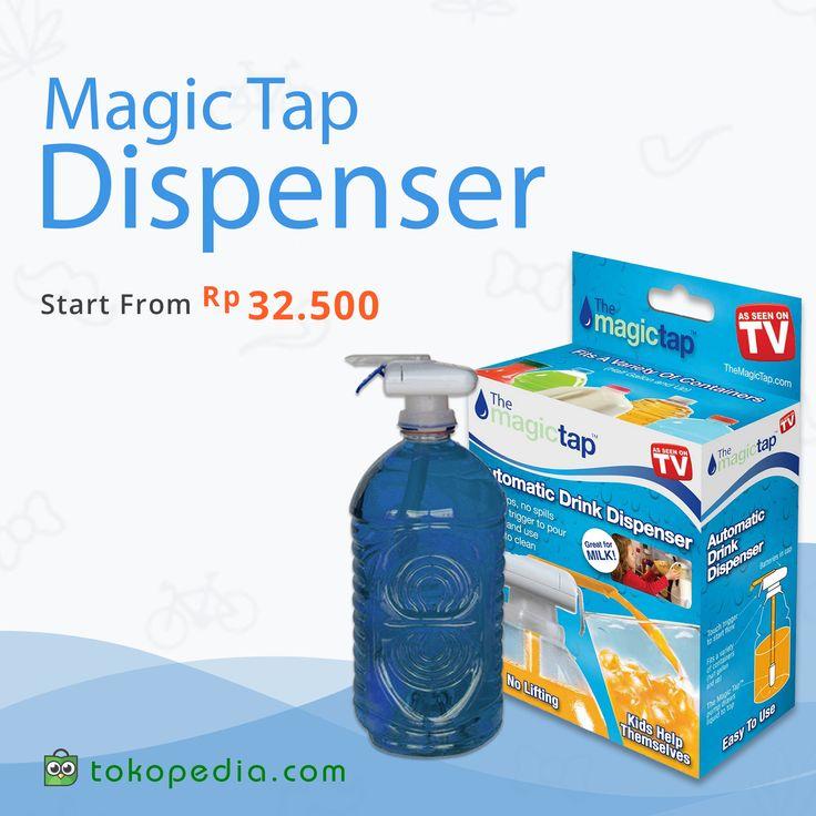 Magic Tap, alat pompa air minum yang akan memudahkanmu saat menuang air. Cukup tekan tombolnya dengan mulut gelas, lalu air akan langsung mengalir ke gelas Anda . Alat ini juga akan mencegah air tumpah.  Yuk beli Magic Tap murah, mulai dari Rp 32.500,- (harga bervariasi) di http://www.tokopedia.com/hot/magic-tap