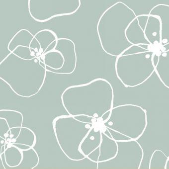 Mormor - Blomster in Mint
