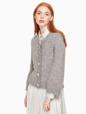 crystal button cloud cardigan | Kate Spade New York