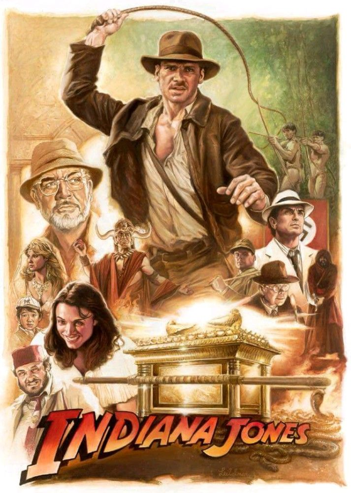 The Trilogy Artwork Artist Unknown Indiana Jones Indiana Jones Films Harrison Ford Indiana Jones