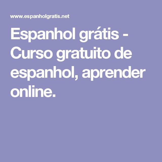 Espanhol grátis - Curso gratuito de espanhol, aprender online.