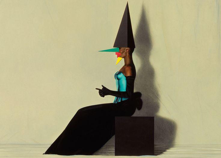 Libertango, painted photo of Grace Jones, New York, 1981. © Jean-Paul Goude